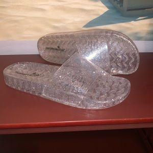 Glitter Clear Sandals